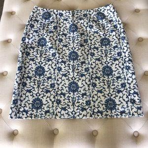 Ralph Lauren Skirt Blue and White 16W